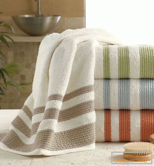 Soft towels for the bathroom