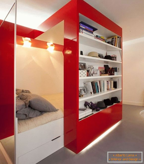 Retractable bedroom