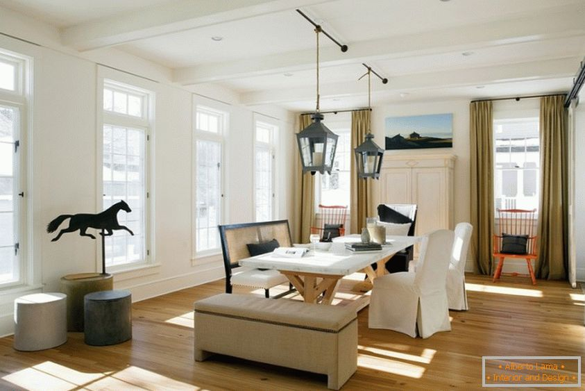 Beautiful ceiling vanes are a noticeable element of style