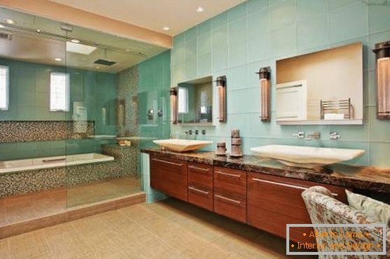 Design of a bathroom in Asian style
