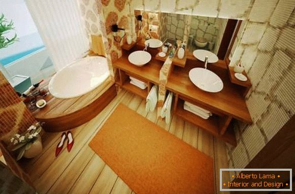 Bathroom design in a natural style