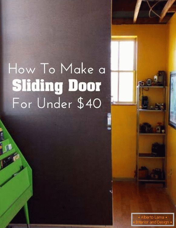 Vertical partition of sliding doors