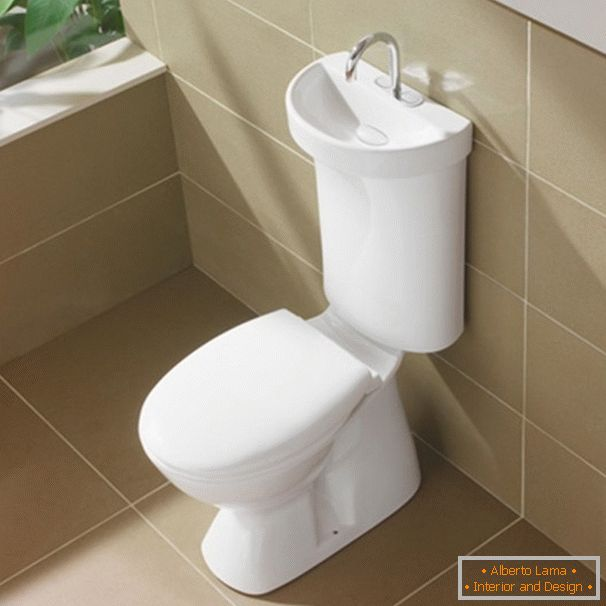 Toilet with built-in sink