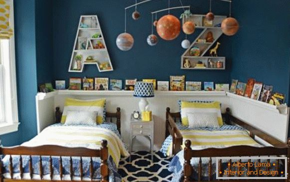 Bright and cheerful decor for children's room
