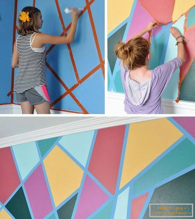 Multi-colored walls in the nursery