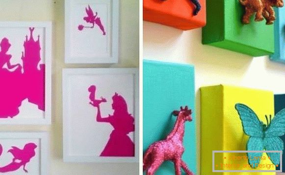 Ornaments for walls in a nursery