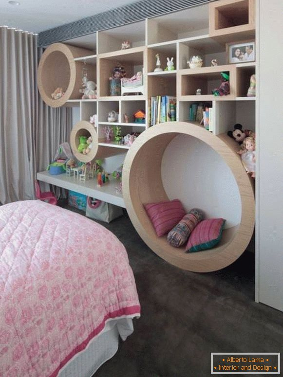 Functional wall for nursery