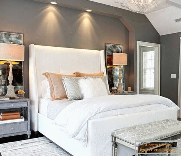 Comfortable lighting in the bedroom for reading