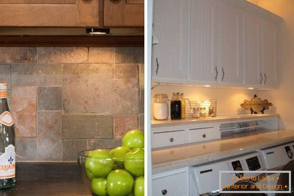 Built-in lighting in the kitchen