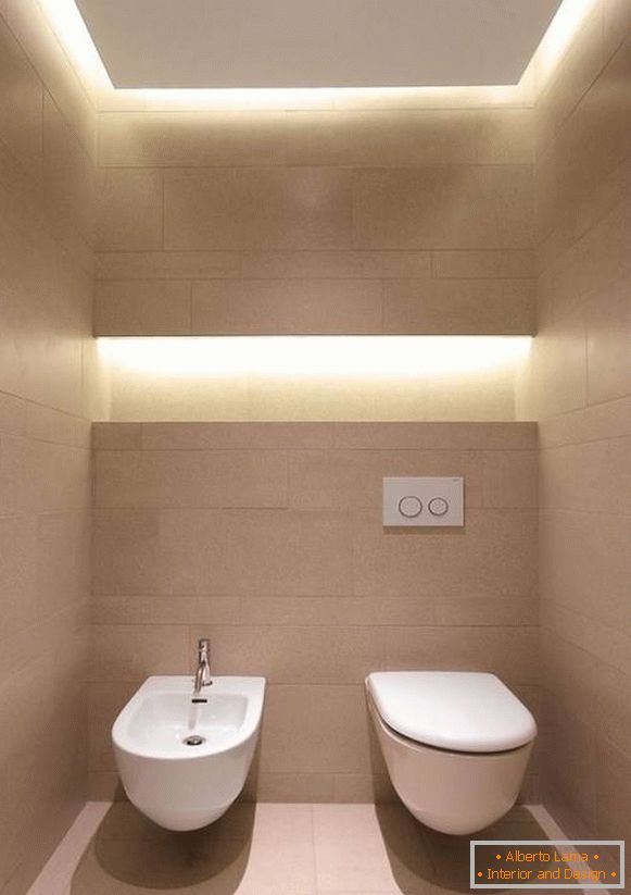 Stylish toilet design with built-in lights