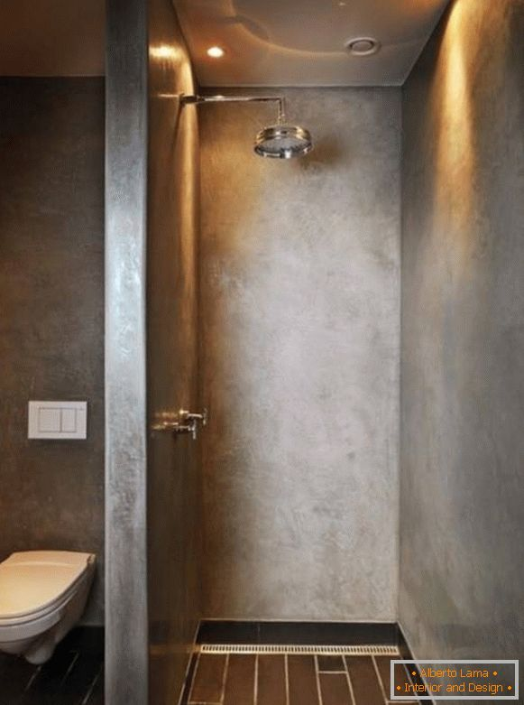 Shower with built-in lights