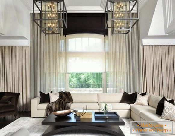 Luxurious interior with modern decor