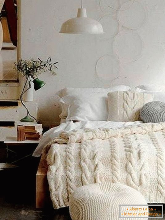 Stylish bedroom decoration knitted things