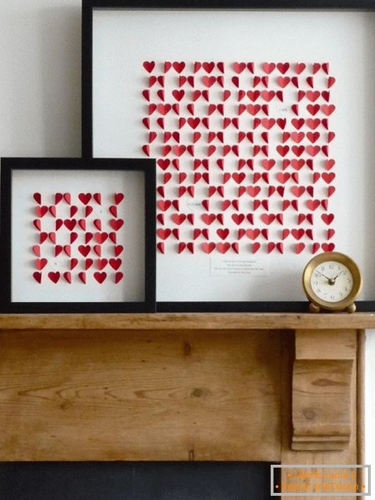 Paper decoration for Valentine's Day by own hands