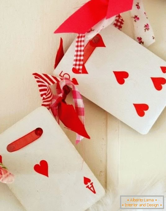 Stylish garland for home decoration on Valentine's Day