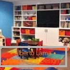 Bright colors in the design of the nursery