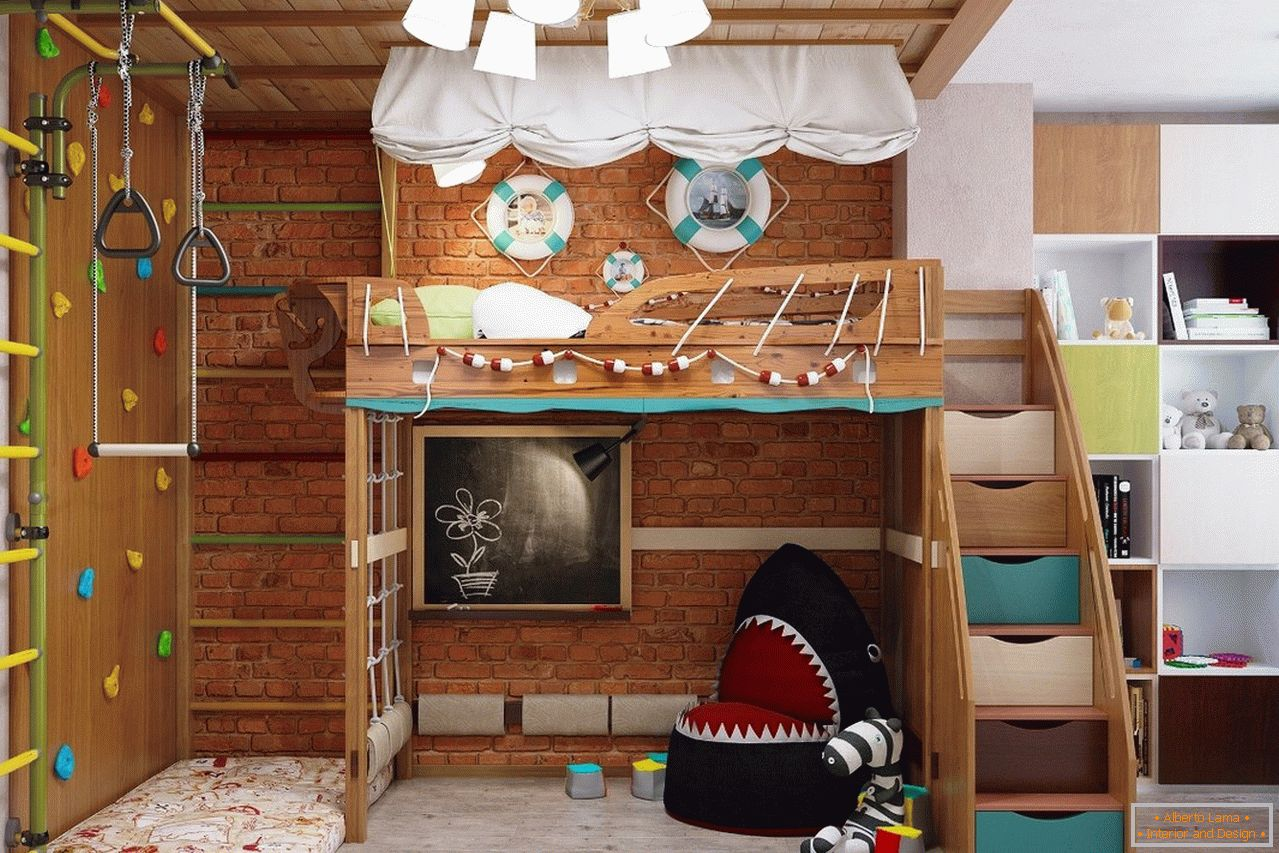 Playroom in the style of eco