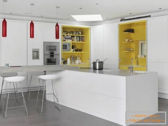 Yellow color in the psychology of the kitchen