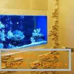 Beautiful wall decoration with aquarium