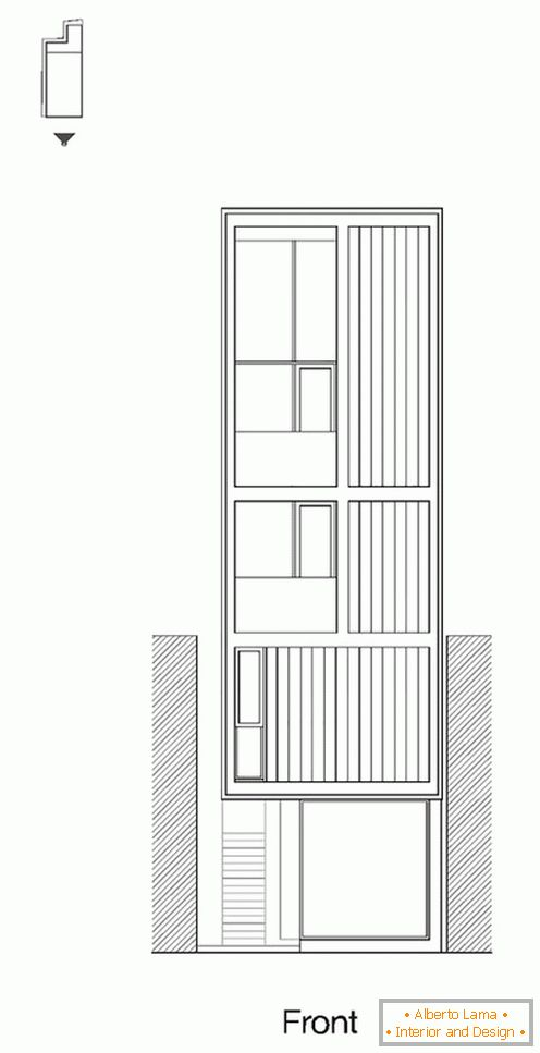 Project of the facade of a compact house - фото 4