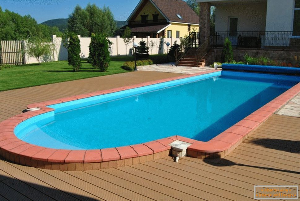 Summer swimming pool on site