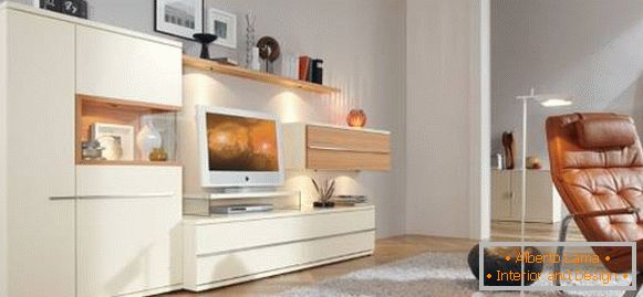 Beautiful white living room furniture in a modern style