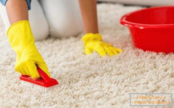 how to clean a white carpet at home, photo 60