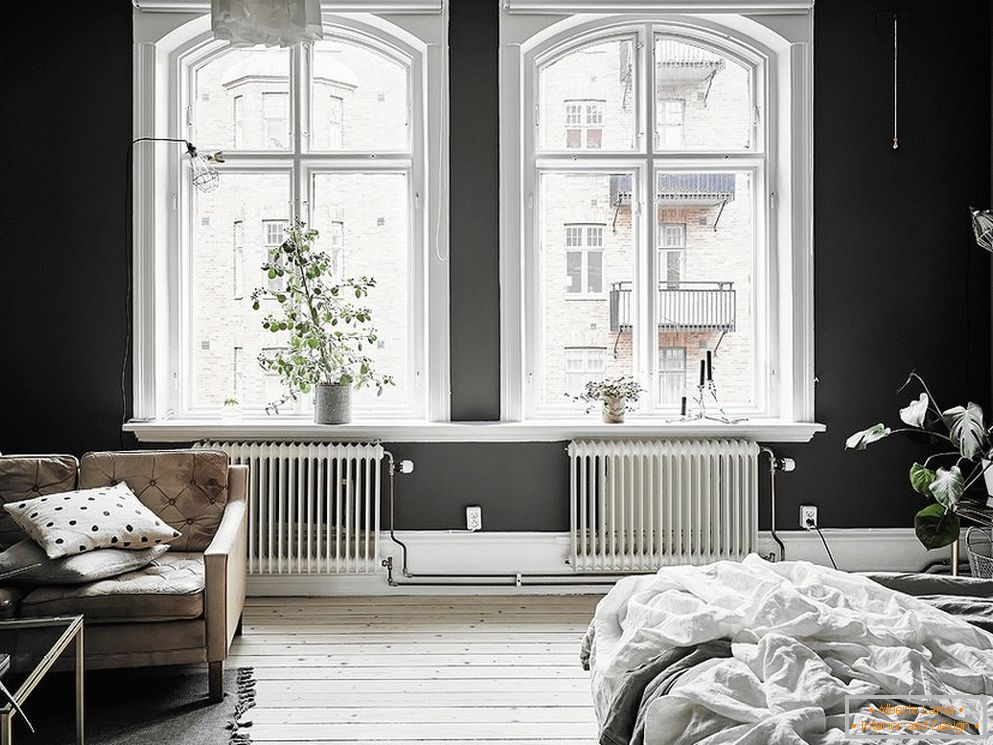 Black and white room design