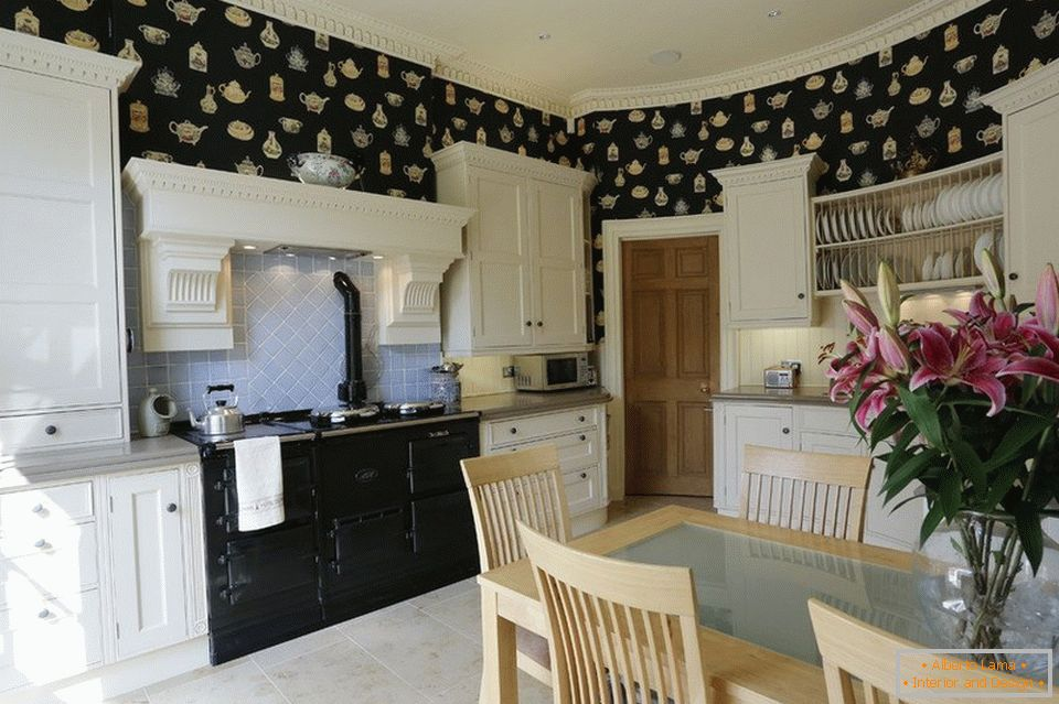 Designer wallpapers for the kitchen