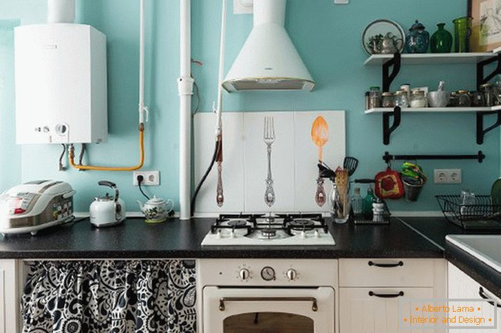 Interior design of a small kitchen