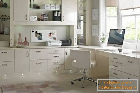 Furniture with illumination for home office