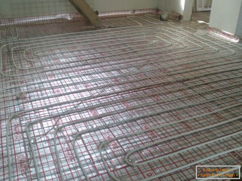 What is a water-heated floor?