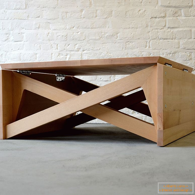Unusual table for a small apartment