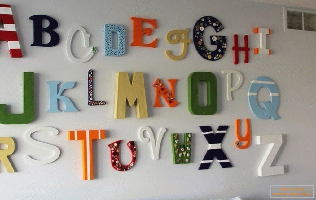 Letters for a child's room