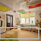 Ideal surface of multi-level ceilings in the children's room