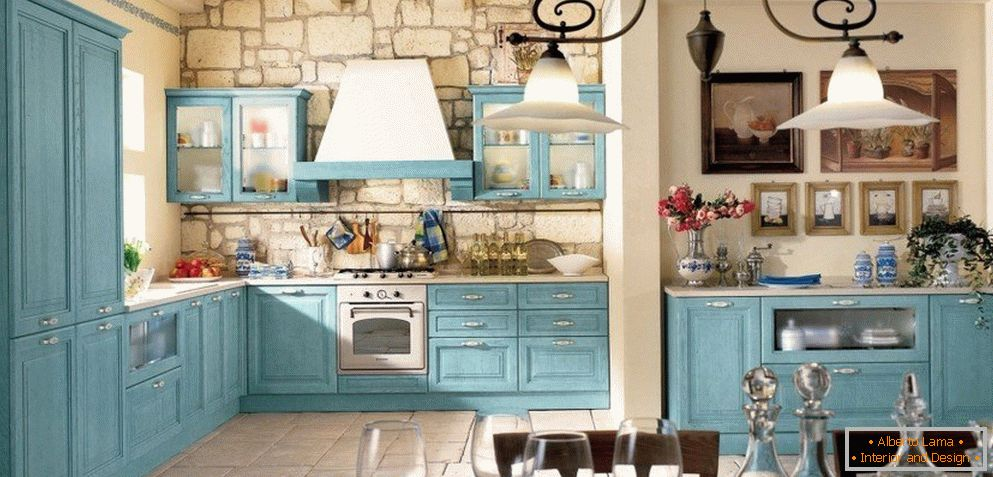 Kitchen in the style of a cheby-chic