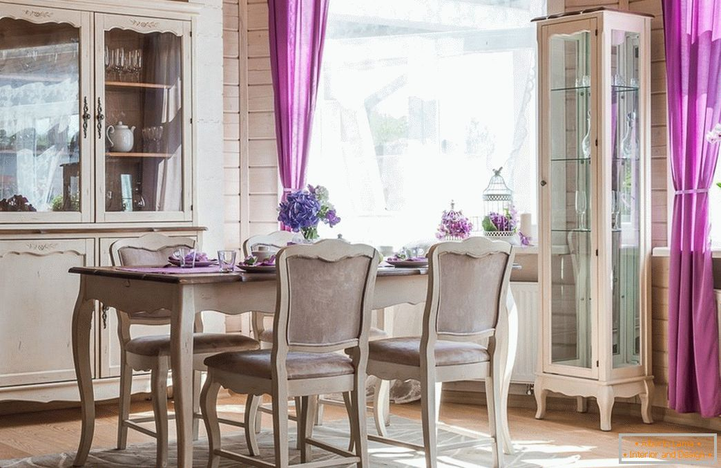 Dining room in vintage style