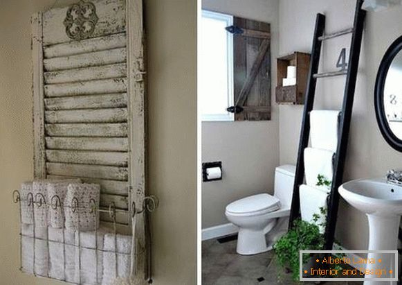 Bathroom decor with own hands from old things