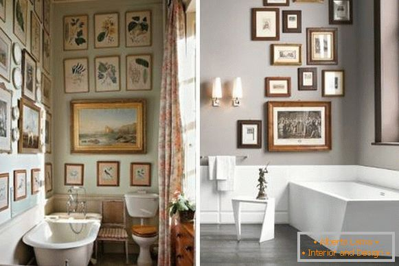 Paintings as decorations for the bathroom
