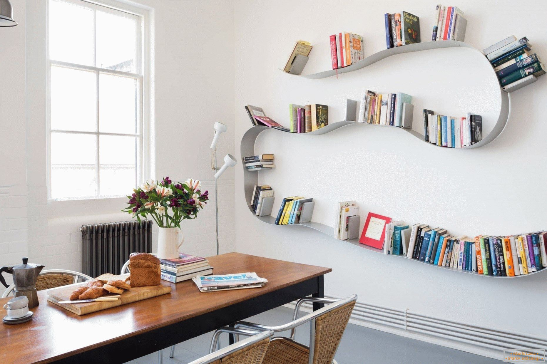 Curved shelves
