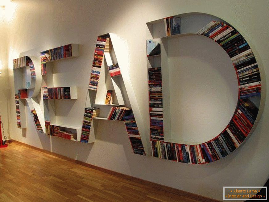 Shelves in the form of letters