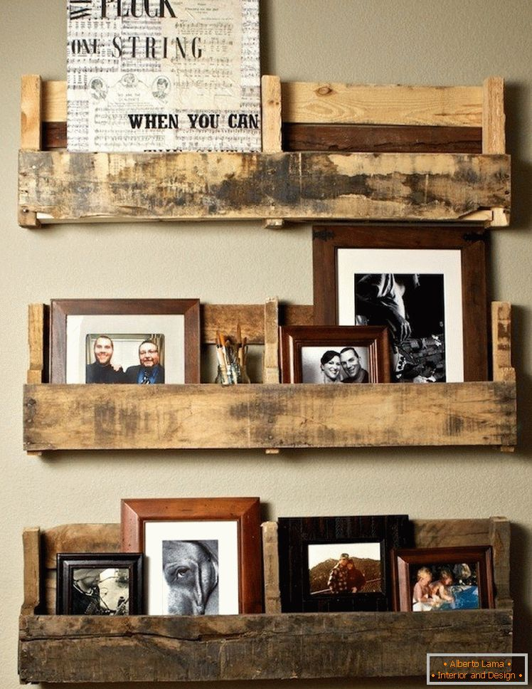 Shelves from pallets