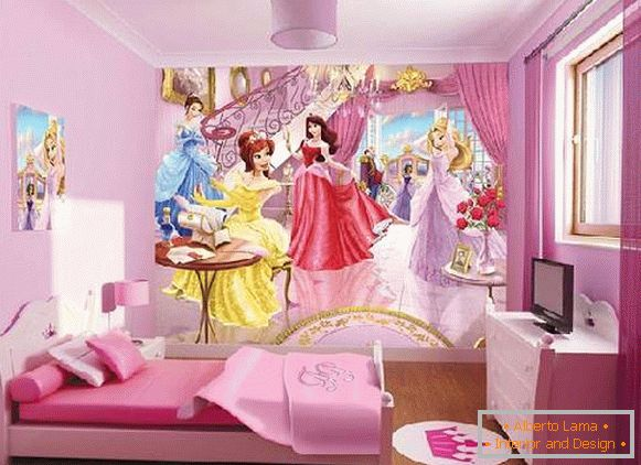 Wall-papers to a children's room for girls, photo 20