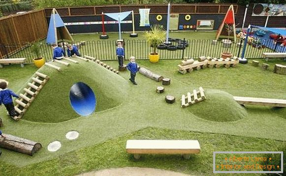 large-homemade-children's playground