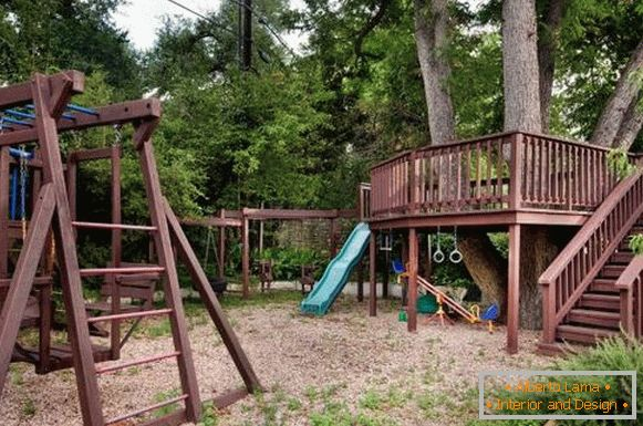 wooden-children's playground