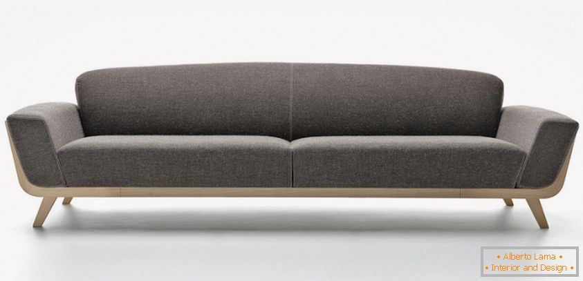Design of a sofa in the living room