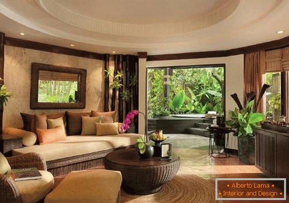Interior decoration of indoor plants