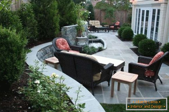 Photo of beautiful courtyards of private houses - recreation area