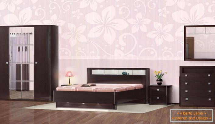 Bedroom furniture in the Wenge style is notable for its noble simplicity and discreet chic.