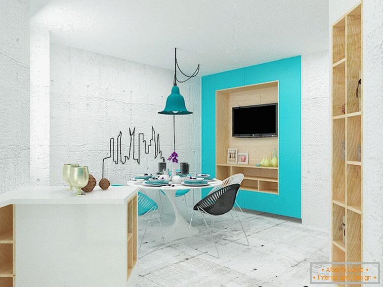 Kitchen-living room design
